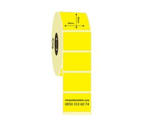 60mm x 40mm Eco Termal Sarı İlaç Etiketi