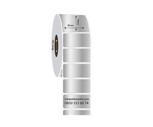 85mm x 50mm Silver Mat Etiket